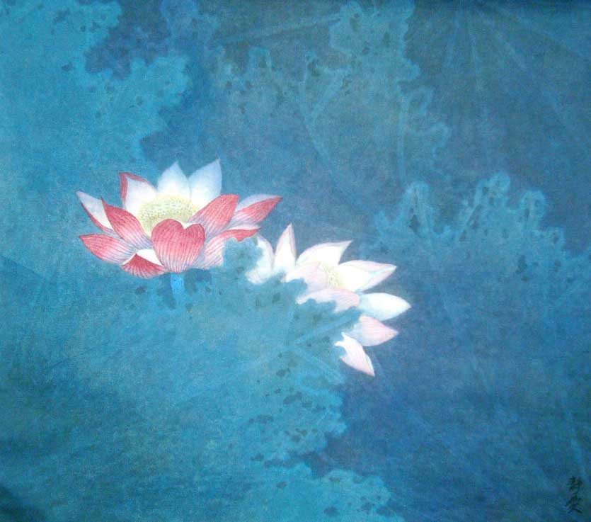 133 Lotus Composition Blue